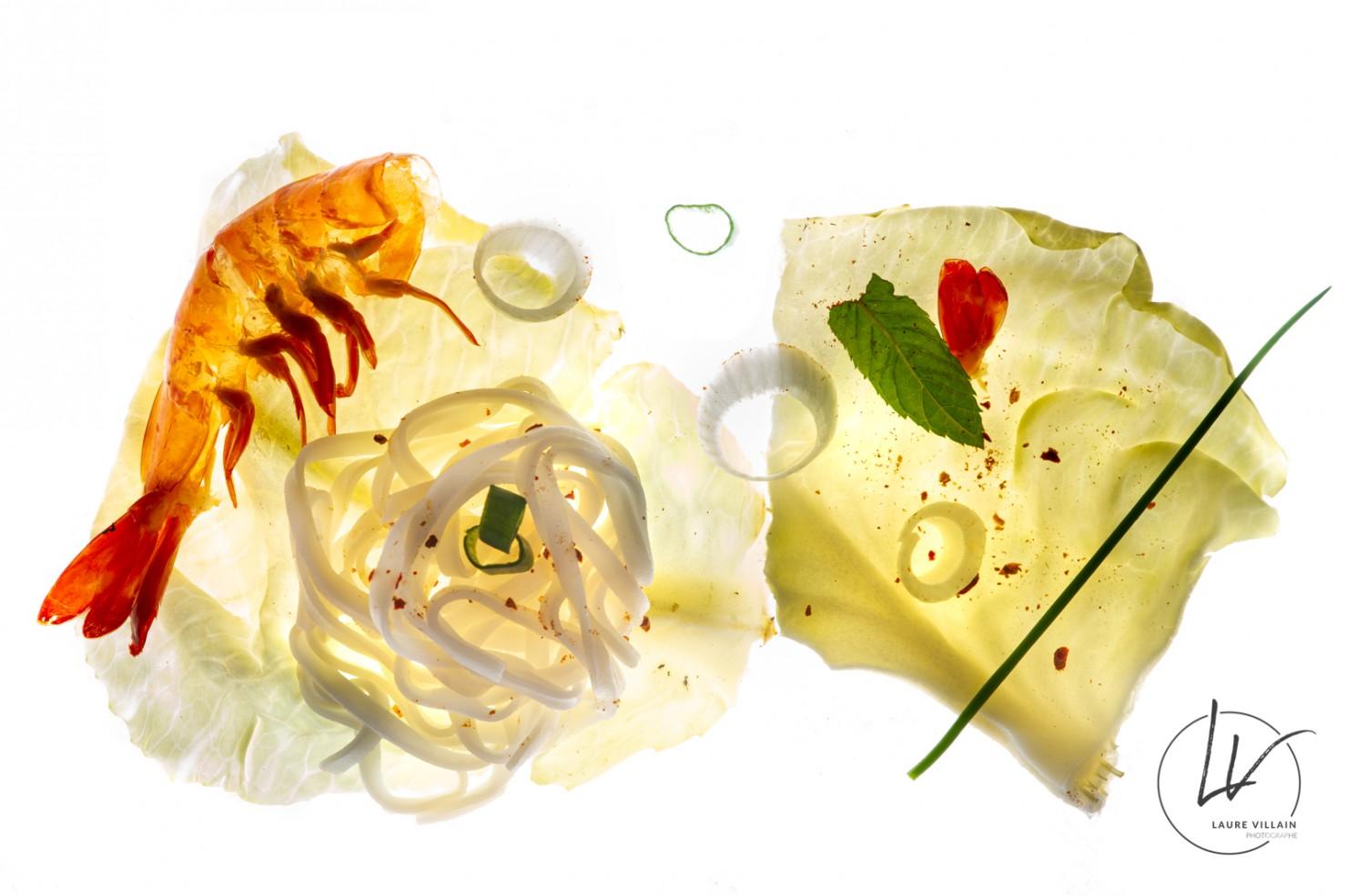 Création culinaire / crevette